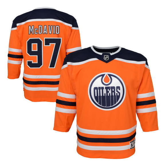 Edmonton Oilers Infant 12-24 Months Connor McDavid Royal Premier - Player Hockey Jersey - Bleacher Bum Collectibles, Toronto Blue Jays, NHL , MLB, Toronto Maple Leafs, Hat, Cap, Jersey, Hoodie, T Shirt, NFL, NBA, Toronto Raptors