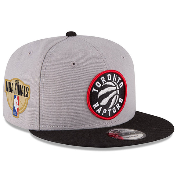 Youth Toronto Raptors New Era Gray/Black 2019 NBA Finals Bound Side Patch Two-Tone 9FIFTY Snapback Adjustable Hat