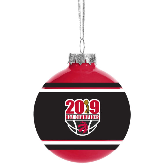 Toronto Raptors Basketball 2019 NBA Champions Glass Ball Christmas Tree Ornament