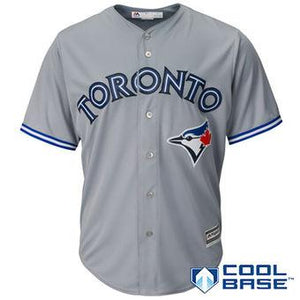 Toronto Blue Jays Toddler MLB Baseball Gray Road Cool Base Team Jersey - Multiple Sizes - Bleacher Bum Collectibles, Toronto Blue Jays, NHL , MLB, Toronto Maple Leafs, Hat, Cap, Jersey, Hoodie, T Shirt, NFL, NBA, Toronto Raptors