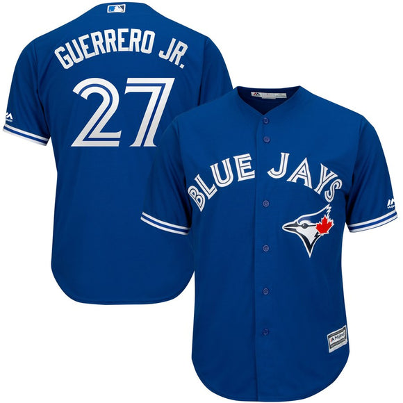Men's Toronto Blue Jays Vladimir Guerrero Jr Majestic Royal Cool Base Alternate Player Jersey