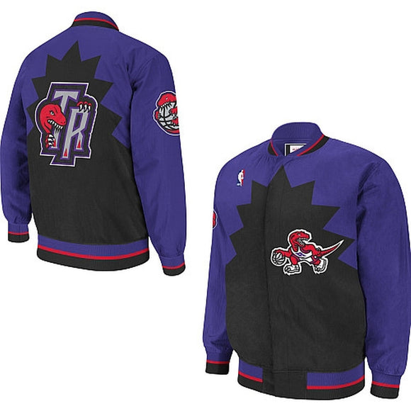 Toronto Raptors Mitchell & Ness NBA Men's Retro Vintage Authentic Warm Up Jacket