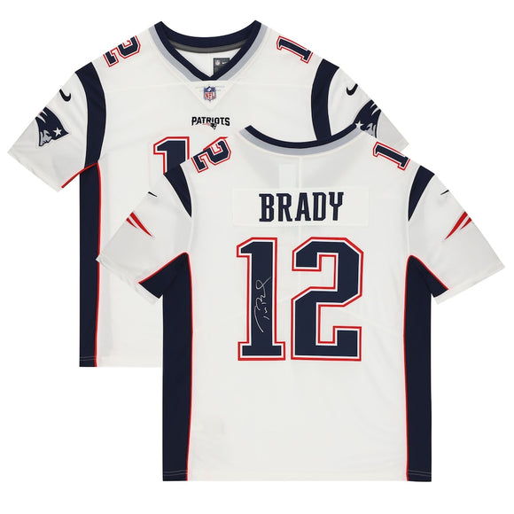 Tom Brady New England Patriots Autographed Nike Limited White NFL Football Jersey