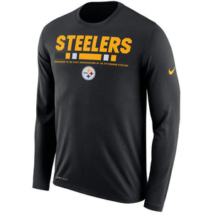 Men's Pittsburgh Steelers Nike Black Sideline Legend Staff Performance Long Sleeve T-Shirt - Bleacher Bum Collectibles, Toronto Blue Jays, NHL , MLB, Toronto Maple Leafs, Hat, Cap, Jersey, Hoodie, T Shirt, NFL, NBA, Toronto Raptors