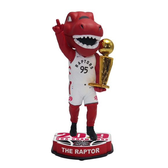 Red Toronto Raptors 2019 NBA Finals Champions - 8'' Mascot Bobblehead - Bleacher Bum Collectibles, Toronto Blue Jays, NHL , MLB, Toronto Maple Leafs, Hat, Cap, Jersey, Hoodie, T Shirt, NFL, NBA, Toronto Raptors