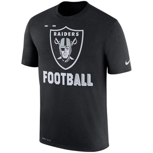Men's Oakland Raiders Nike Black Sideline Legend Football Performance T-Shirt - Bleacher Bum Collectibles, Toronto Blue Jays, NHL , MLB, Toronto Maple Leafs, Hat, Cap, Jersey, Hoodie, T Shirt, NFL, NBA, Toronto Raptors