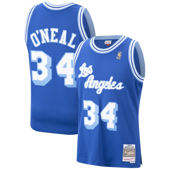 Men's Los Angeles Lakers Shaquille O'Neal Mitchell & Ness Royal Hardwood Classics 1996-97 Swingman Jersey - Bleacher Bum Collectibles, Toronto Blue Jays, NHL , MLB, Toronto Maple Leafs, Hat, Cap, Jersey, Hoodie, T Shirt, NFL, NBA, Toronto Raptors