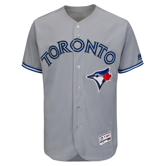 Men's Toronto Blue Jays Majestic Road Gray Flex Base Authentic Collection Team Jersey - Bleacher Bum Collectibles, Toronto Blue Jays, NHL , MLB, Toronto Maple Leafs, Hat, Cap, Jersey, Hoodie, T Shirt, NFL, NBA, Toronto Raptors