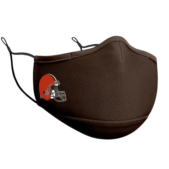 Adult Cleveland Browns NFL Football New Era Team Colour On-Field Adjustable Face Covering
