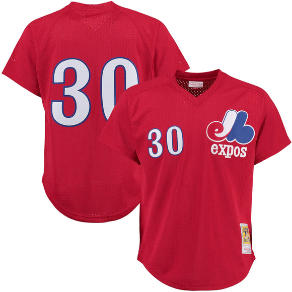 Men's Montreal Expos Tim Raines Mitchell & Ness Red Cooperstown Mesh Batting Practice Jersey - Bleacher Bum Collectibles, Toronto Blue Jays, NHL , MLB, Toronto Maple Leafs, Hat, Cap, Jersey, Hoodie, T Shirt, NFL, NBA, Toronto Raptors