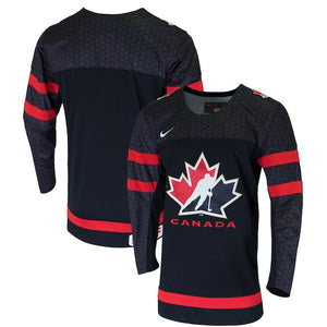 Men s 2019 Team Canada Nike Hockey IIHF World Junior Championship Black  Replica Jersey - Bleacher Bum 09bafd858bd