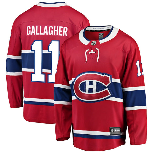 Men's Montreal Canadiens Brendan Gallagher Fanatics Branded Red Home Breakaway - Player NHL Hockey Jersey