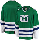 Men's Hartford Whalers Fanatics Branded Premier Breakaway Heritage Green Jersey - Bleacher Bum Collectibles, Toronto Blue Jays, NHL , MLB, Toronto Maple Leafs, Hat, Cap, Jersey, Hoodie, T Shirt, NFL, NBA, Toronto Raptors