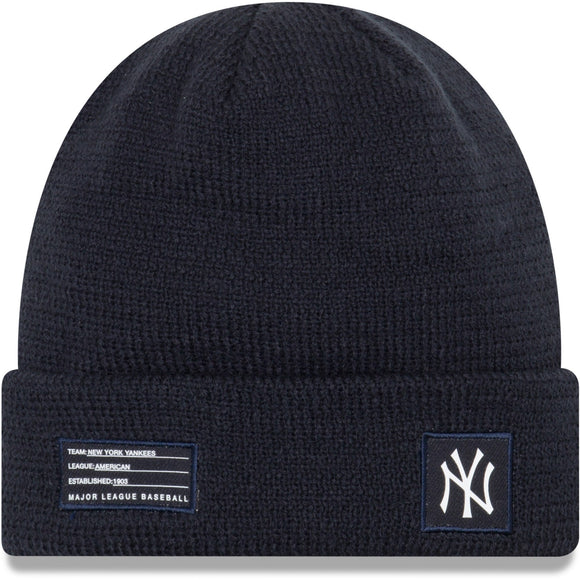 Men's New York Yankees New Era Navy On-Field Sport Cuffed Knit Toque Beanie Hat - Bleacher Bum Collectibles, Toronto Blue Jays, NHL , MLB, Toronto Maple Leafs, Hat, Cap, Jersey, Hoodie, T Shirt, NFL, NBA, Toronto Raptors