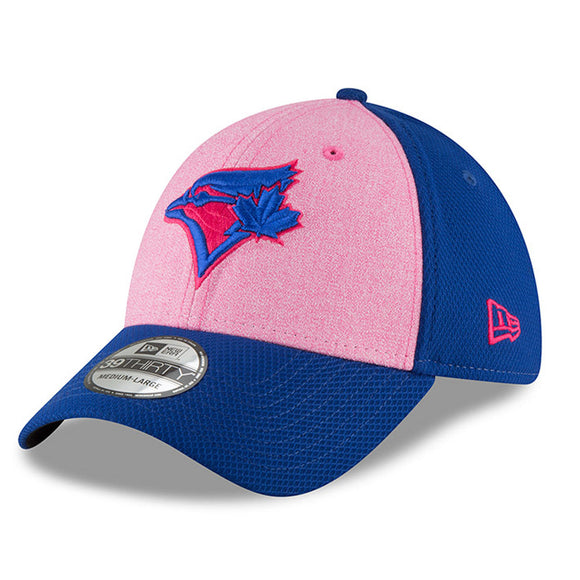 Men's Toronto Blue Jays New Era Pink 2018 Mother's Day 39THIRTY Flex Hat - Bleacher Bum Collectibles, Toronto Blue Jays, NHL , MLB, Toronto Maple Leafs, Hat, Cap, Jersey, Hoodie, T Shirt, NFL, NBA, Toronto Raptors