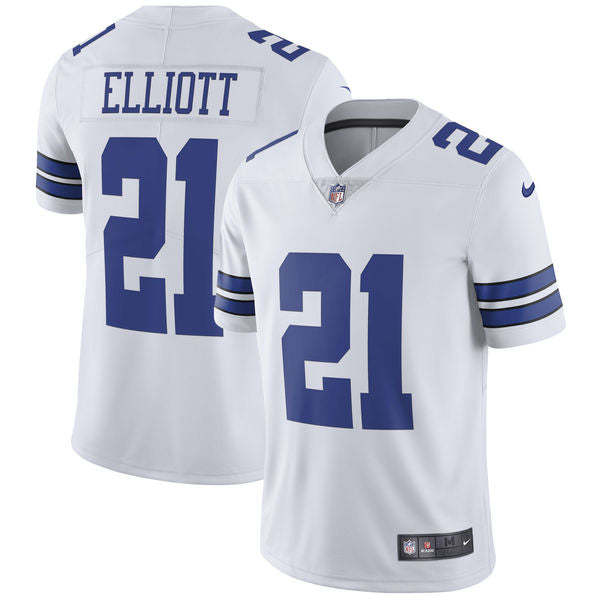 premium selection f84e3 f2095 Men's Dallas Cowboys Ezekiel Elliott Nike White Vapor Untouchable Limited  Player Jersey