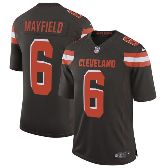Men's Nike Baker Mayfield Brown Cleveland Browns Limited NFL Football - Player Jersey
