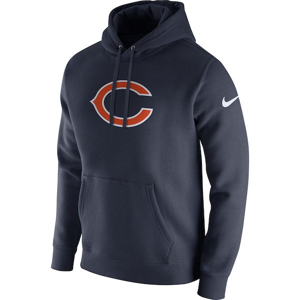 Discount Men's Nike Navy Chicago Bears Club Fleece Logo Pullover Hoodie  for cheap