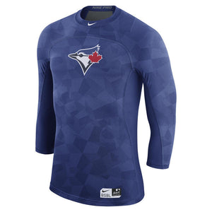 Men's Toronto Blue Jays Nike Royal Authentic Collection Pro Hypercool 3/4-Sleeve Performance T-Shirt - Bleacher Bum Collectibles, Toronto Blue Jays, NHL , MLB, Toronto Maple Leafs, Hat, Cap, Jersey, Hoodie, T Shirt, NFL, NBA, Toronto Raptors