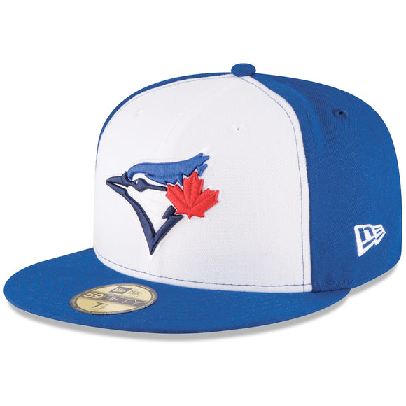 Toronto Blue Jays New Era Alternate 3 Authentic Collection On-Field 59FIFTY - Fitted Hat - White/Royal