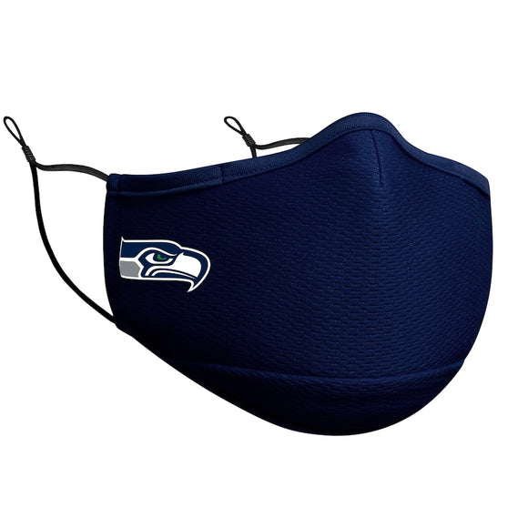 Adult Seattle Seahawks NFL Football New Era Team Colour On-Field Adjustable Face Covering