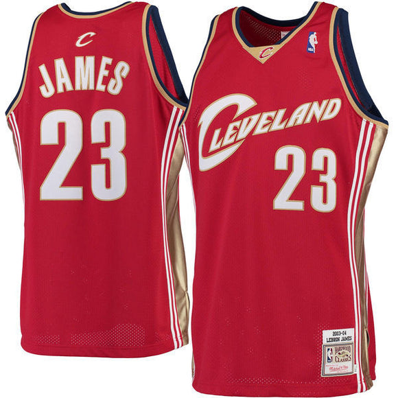 Men's Cleveland Cavaliers LeBron James Mitchell & Ness Burgundy 2003-04 Hardwood Classics Rookie Authentic Jersey - Bleacher Bum Collectibles, Toronto Blue Jays, NHL , MLB, Toronto Maple Leafs, Hat, Cap, Jersey, Hoodie, T Shirt, NFL, NBA, Toronto Raptors