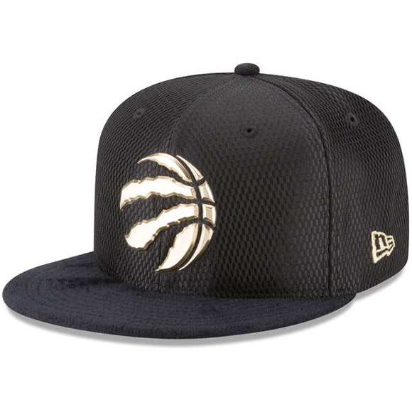 Men's Toronto Raptors New Era Black On-Court Gold Logo Original Fit 9FIFTY Adjustable Snapback Hat - Bleacher Bum Collectibles, Toronto Blue Jays, NHL , MLB, Toronto Maple Leafs, Hat, Cap, Jersey, Hoodie, T Shirt, NFL, NBA, Toronto Raptors