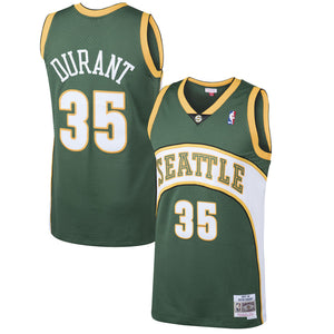 Men's Seattle SuperSonics Kevin Durant Mitchell & Ness Green 2007-08 Hardwood Classics Swingman Jersey - Bleacher Bum Collectibles, Toronto Blue Jays, NHL , MLB, Toronto Maple Leafs, Hat, Cap, Jersey, Hoodie, T Shirt, NFL, NBA, Toronto Raptors