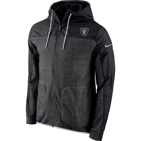 e7ecf88f8 Men s Oakland Raiders Nike Black AV15 Winterized Full-Zip Jacket - Bleacher  Bum Collectibles