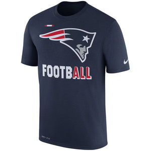 Men's New England Patriots Nike Navy Sideline Legend Football Performance T-Shirt - Bleacher Bum Collectibles, Toronto Blue Jays, NHL , MLB, Toronto Maple Leafs, Hat, Cap, Jersey, Hoodie, T Shirt, NFL, NBA, Toronto Raptors