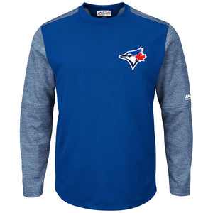 Men's Toronto Blue Jays Majestic Royal Authentic Collection On-Field Tech Fleece Pullover Sweatshirt - Bleacher Bum Collectibles, Toronto Blue Jays, NHL , MLB, Toronto Maple Leafs, Hat, Cap, Jersey, Hoodie, T Shirt, NFL, NBA, Toronto Raptors