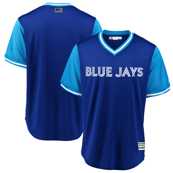 Men's Toronto Blue Jays Majestic Royal/Light Blue 2018 Players' Weekend Team Jersey - Bleacher Bum Collectibles, Toronto Blue Jays, NHL , MLB, Toronto Maple Leafs, Hat, Cap, Jersey, Hoodie, T Shirt, NFL, NBA, Toronto Raptors