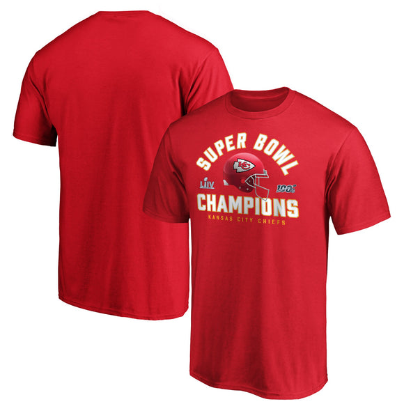 Men's NFL Pro Line by Fanatics Branded Red Kansas City Chiefs Super Bowl LIV Champions - Lateral T-Shirt - Bleacher Bum Collectibles, Toronto Blue Jays, NHL , MLB, Toronto Maple Leafs, Hat, Cap, Jersey, Hoodie, T Shirt, NFL, NBA, Toronto Raptors