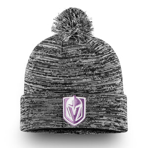 604fb2a5250 Vegas Golden Knights Fanatics Branded 2018 Hockey Fights Cancer Cuffed Knit  Hat with Pom – Heathered