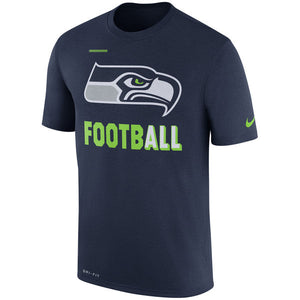 Men's Seattle Seahawks Nike Navy Sideline Legend Football Performance T-Shirt - Bleacher Bum Collectibles, Toronto Blue Jays, NHL , MLB, Toronto Maple Leafs, Hat, Cap, Jersey, Hoodie, T Shirt, NFL, NBA, Toronto Raptors
