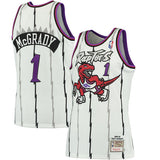 Men's Toronto Raptors Tracy McGrady Mitchell & Ness White 1998-99 Hardwood Classics Authentic Jersey - Bleacher Bum Collectibles, Toronto Blue Jays, NHL , MLB, Toronto Maple Leafs, Hat, Cap, Jersey, Hoodie, T Shirt, NFL, NBA, Toronto Raptors