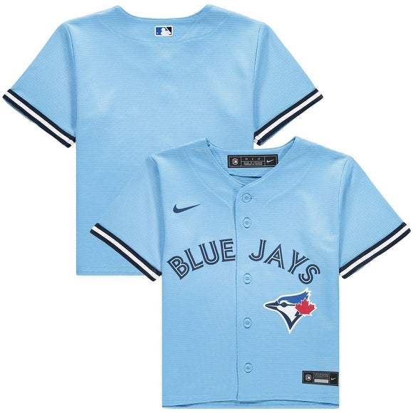 Toronto Blue Jays Nike Kids Alternate 2020 Replica Team Light Blue Jersey - Multiple Sizes - Bleacher Bum Collectibles, Toronto Blue Jays, NHL , MLB, Toronto Maple Leafs, Hat, Cap, Jersey, Hoodie, T Shirt, NFL, NBA, Toronto Raptors