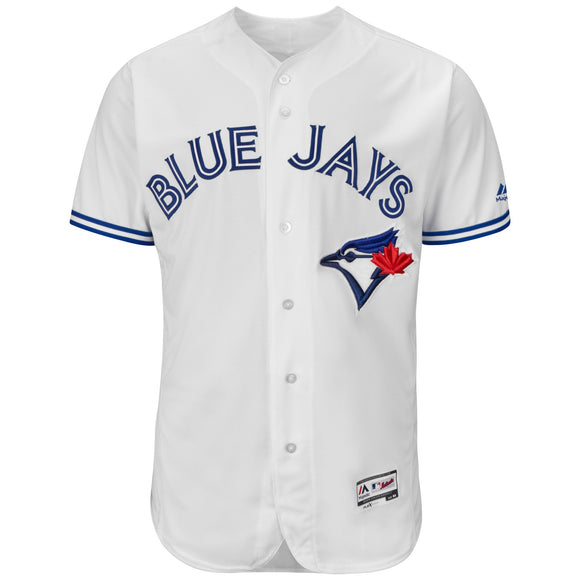 Men's Toronto Blue Jays Majestic Home White Flex Base Authentic Collection Team Jersey - Bleacher Bum Collectibles, Toronto Blue Jays, NHL , MLB, Toronto Maple Leafs, Hat, Cap, Jersey, Hoodie, T Shirt, NFL, NBA, Toronto Raptors