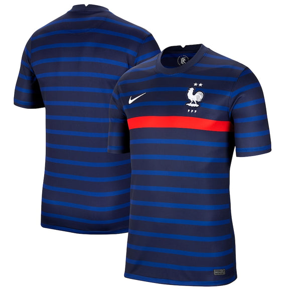 France National European Soccer Team Nike 2020/21 Home Replica Jersey - Blue