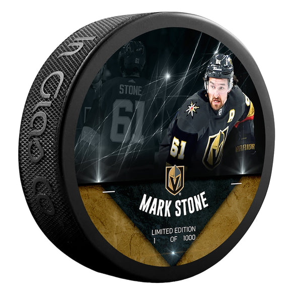 Mark Stone Vegas Golden Knights Unsigned Fanatics Exclusive Player Hockey Puck - Limited Edition of 1000
