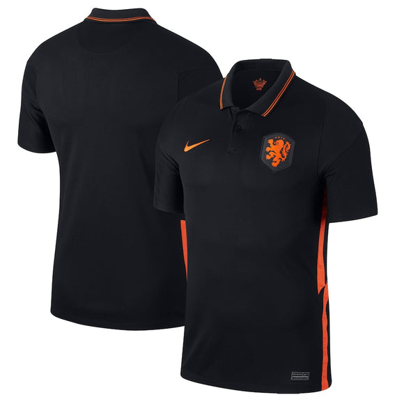Netherlands National Team Nike 2020/21 Away Stadium Replica Jersey - Black/Orange