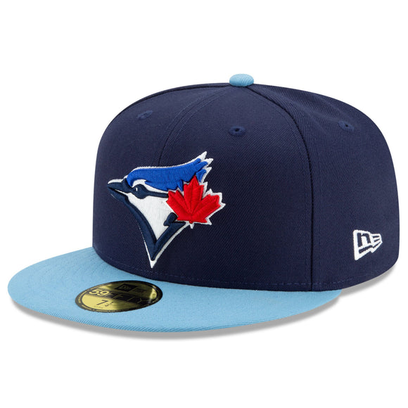 Men's Toronto Blue Jays New Era Navy Alternate 4 Authentic Collection On-Field 59FIFTY Fitted Hat - Bleacher Bum Collectibles, Toronto Blue Jays, NHL , MLB, Toronto Maple Leafs, Hat, Cap, Jersey, Hoodie, T Shirt, NFL, NBA, Toronto Raptors