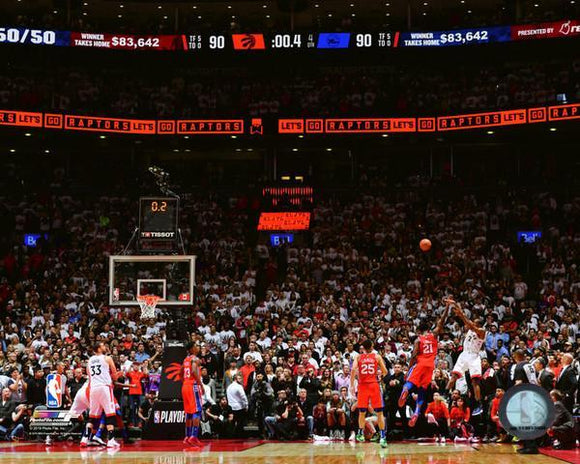 Toronto Raptors Kawhi Leonard Game 7 Buzzer Beater Shot Unsiged Photo Picture 16x20 - Multiple Angles