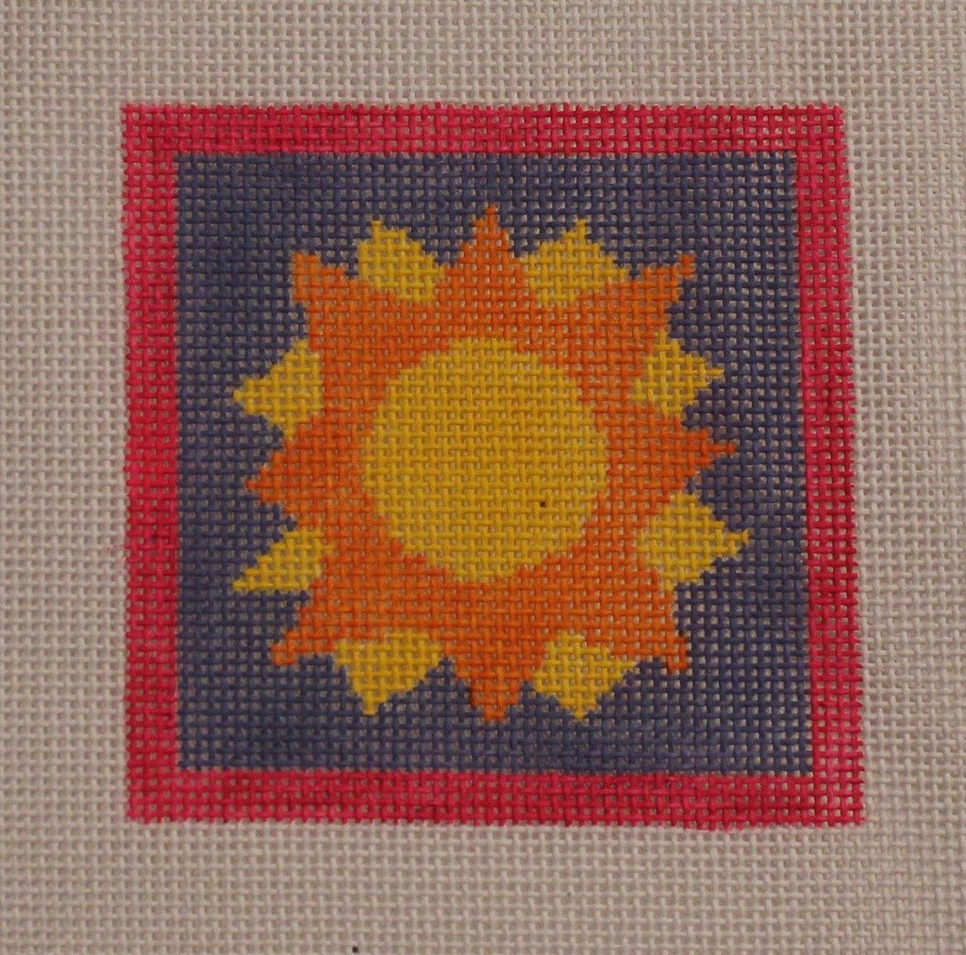 3x3-010 Orange and yellow sun