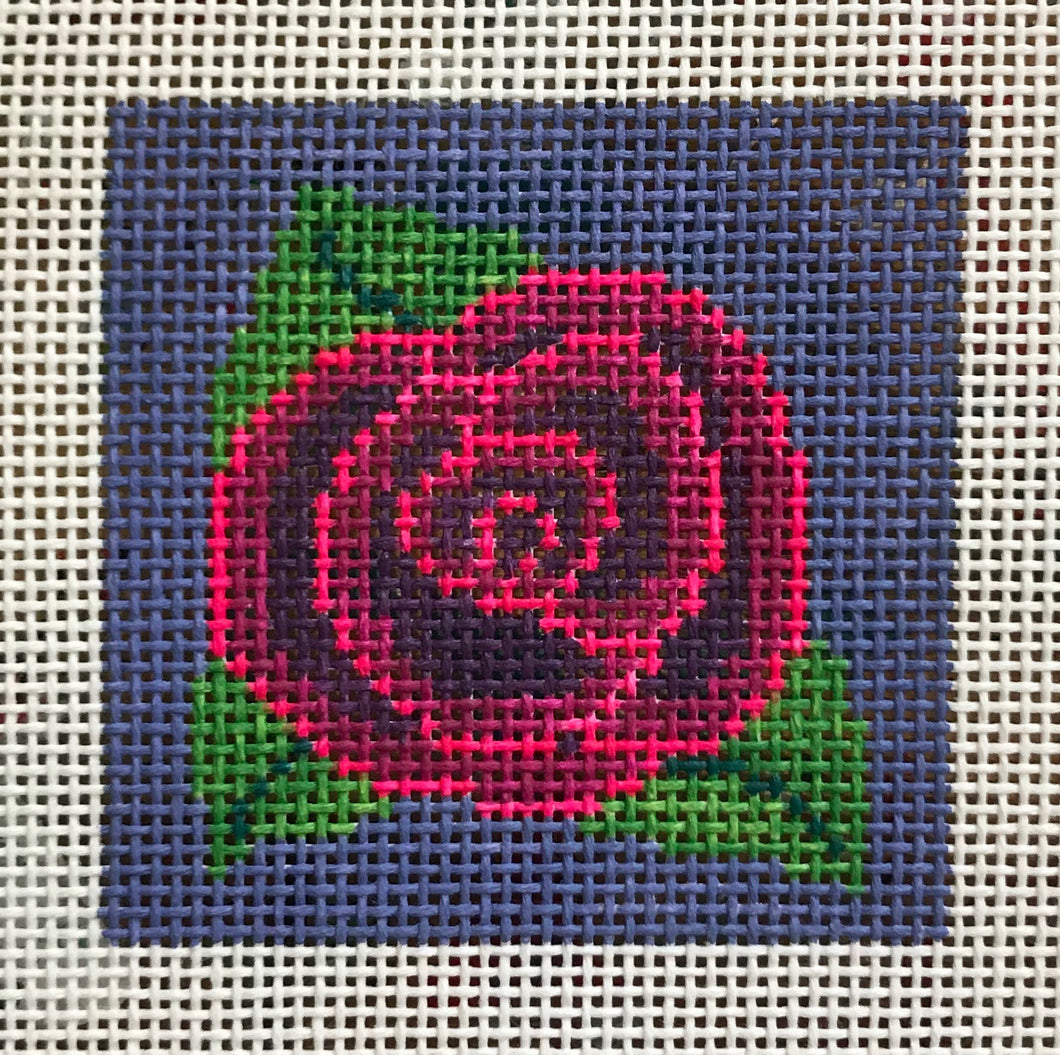 3x3-021 Purple and pink rose