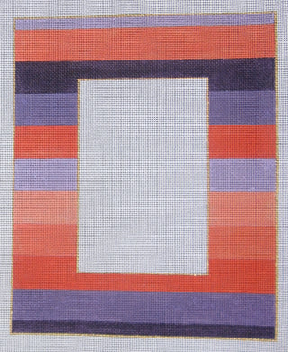 4x6-002 Purple and coral stripe
