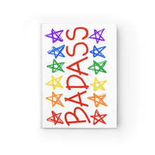 BADASS with rainbow stars - Blank Journal