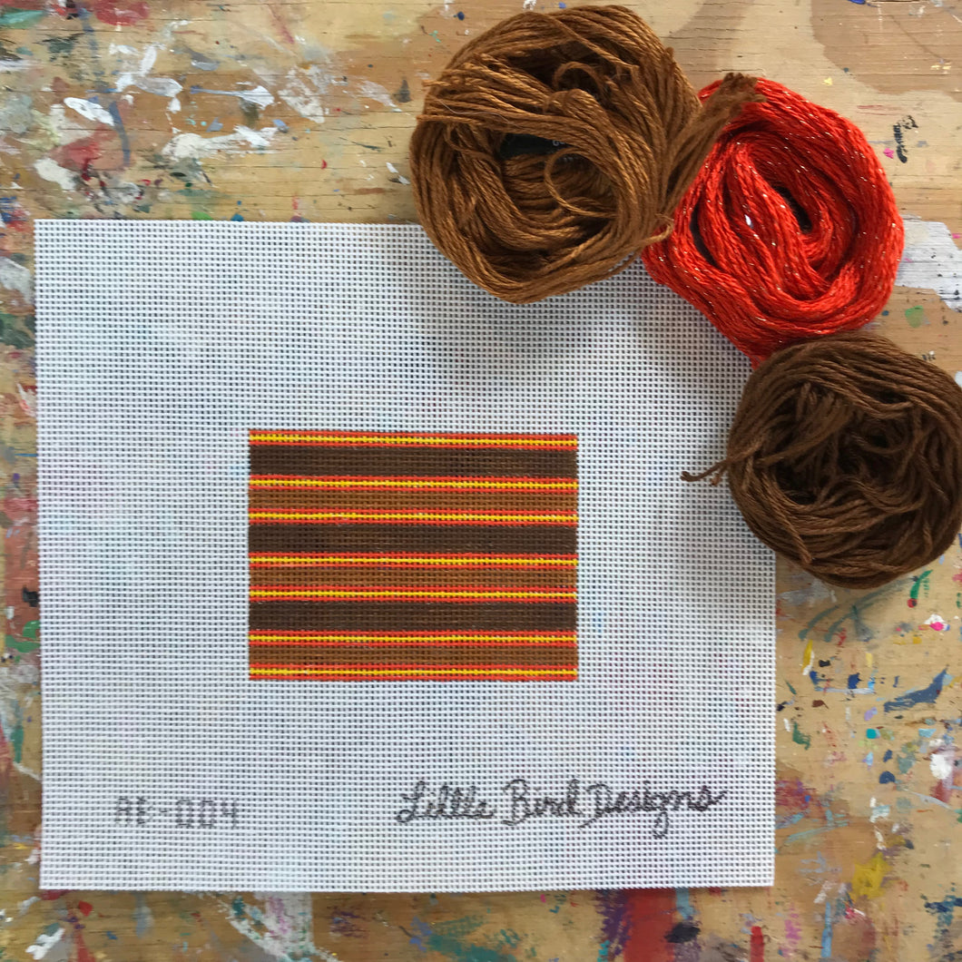 AB-004 Brown, orange, and yellow stripes