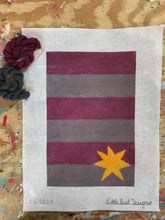 CS-003A Maroon and grey stripes with yellow star