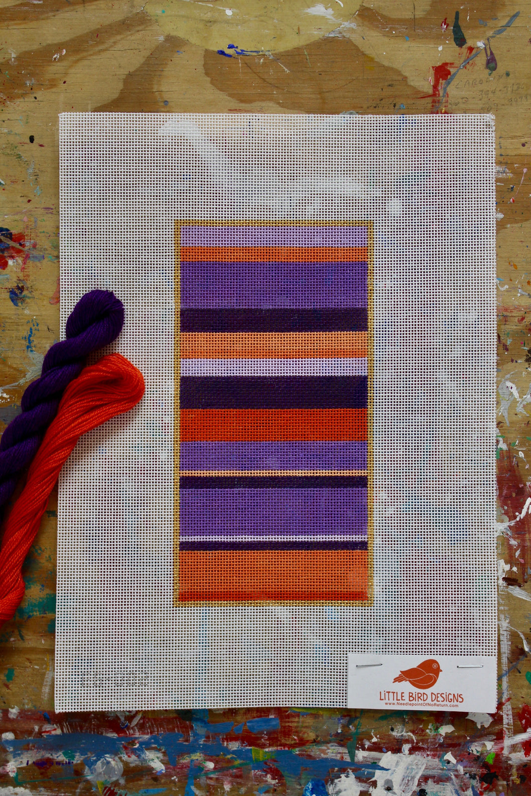 EG-002 Purple and coral stripe